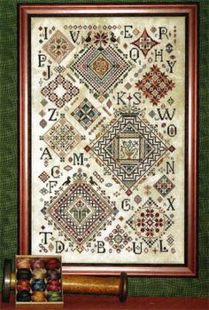 Rosewood Manor Quaker Diamonds Cross Stitch Pattern 123stitchcom
