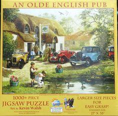 SunsOut AN OLDE ENGLISH PUB Large Size Pieces 1000 pc Jigsaw Puzzle Kevin Walsh  #SunsOut