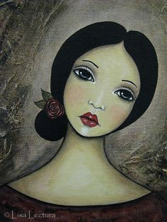 Original+Mixed+Media+Portrait+Painting+by+Lisa+by+lisalectura,+$85.00