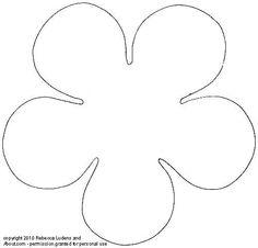 Free Printable Flower Patterns for Scrapbooking - Flower 4