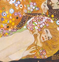 "malinconie: "" Details of women from Gustav Klimt's paintings """