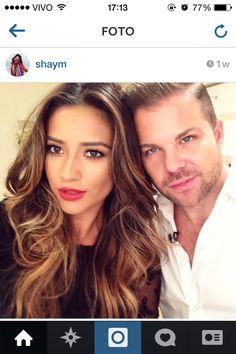 Linda a coloração do cabelo da atriz Shay