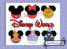 ON SALE Disney Digital File, DIY Print Iron On-Disney World Super Six Vacation Mickey Mouse Minnie Mouse Pluto Goofy Donald Duck Daisy Duck