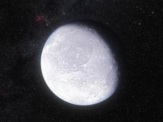 Eris is a dwarf planet considered to be Pluto's twin. Find out more about it here!  #astronomy #spaceisniiiiice