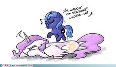 ...and don't it feel good, HEY! - Luna and Celestia