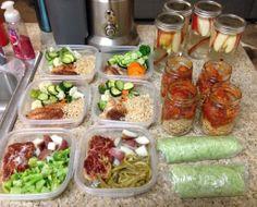 My weekly meal prep.