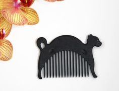 Wooden Comb Cat Hand Carved Natural. One of your choice. Head Handle - Ready to…