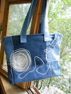 """Купить Сумка джинсовая """"Весенняя американка"""") - Кот Саймона, джинсовая сумка, оригинальная сумка"""
