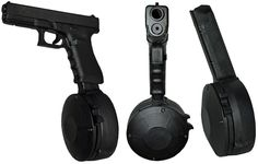The mag u need for your handgun on Z day: Glock 9mm 50 Round drum