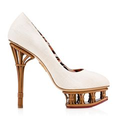 RATTAN DOLLY|COURT SHOE PLAT|Charlotte Olympia SHOES - SS16