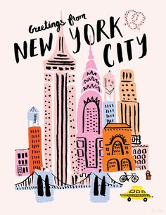 Ali's Portfolio — Snyder New York New York Illustration, Nyc Art, City Aesthetic, Aesthetic Drawing, Typography Inspiration, Types Of Art, Graphic, Doodle Art, Collages