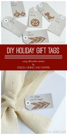 DIY Christmas Gift Tags made easy with the Silhouette - Design, Dining + Diapers