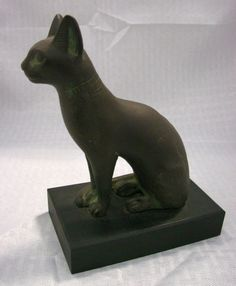 Vintage Bronze Egyptian Cat Sculpture Cat от oldwestantiques