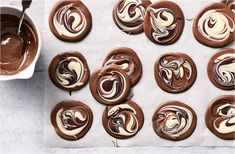 Marbled chocolate 'puddles' | Tesco Real Food