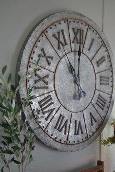 Gilbert Galvanized Wall Clock – Clock World Galvanized Decor, Galvanized Metal, Galvanized Buckets, Contemporary Clocks, Casa Loft, Kitchen Wall Clocks, Wall Clock Decor, Kitchen Decor, Clock For Kids