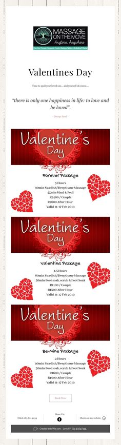 Time to spoil your loved one. and yourself of course.