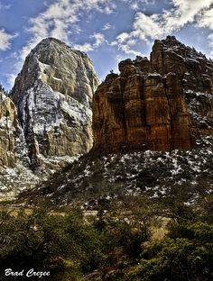 The Great White Throne in Zion National Park, Utah.  I have  picture of this that my mother painted-- a treasure that I look at everyday!