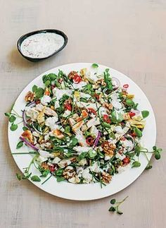Grilled Chicken & Artichoke Salad with yoghurt dressing. (Sabrina Ghayour) This salad is wonderful!