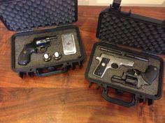 DIY custom-cut pistol kaizen foam inserts for gun cases, no special tools neeeded