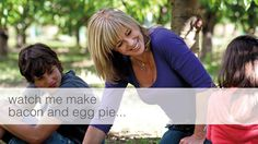 Official website of celebrity cook Annabel Langbein. Delicious, quick and easy recipes from her TV series The Free Range Cook. Egg Pie, Cooking Tv, Free Range, Simple Pleasures, Quick Easy Meals, Chefs, Tv Series, Bacon, Eggs