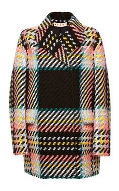 Wool Cotton Tweed Check Coat by MARNI Now Available on Moda Operandi