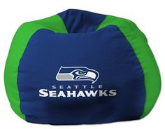 [[start tab]] Description This Seattle Seahawks NFL Bean Bag Chair is the perfect addition to every football fan's bedroom, living room or den. The shell is made of 100 percent Polyester fabric, with