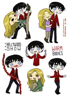 falsehope04:  Warm Bodies Hillywood parody style :D I'm afraid to tell anyone just how many times I've watched this video. Definitely my favourite parody so far! Drew these yesterday when my art block was setting in. I'm happiest with R and his cutlery  Julie's 'Wtf? Hell no!' expression.  WE LOVE THIS! 3