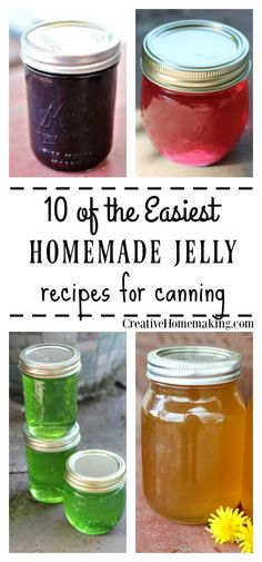 10 Easy Homemade Jelly Recipes My favorite unusual jelly recipes for canning. The best homemade jelly recipes! The post 10 Easy Homemade Jelly Recipes & Homesteading & Survivalism appeared first on Homemade jam . Pressure Canning Recipes, Easy Canning, Canning 101, Jelly Recipes, Easy Jam Recipes, Fruit Jelly Recipe, Nut Recipes, Recipes Dinner, Dessert Recipes