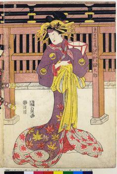 歌川国貞: triptych print - 大英博物館