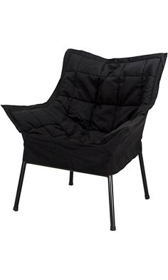 Casual Home Milano Metal Chair, Black Metal Frame with Black Outer cover Best Price