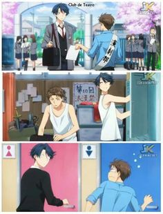 Gekkan Shoujo Nozaki-kun                                                                                                            Sakura: Hori-senpai, when you first met Kashima-kun, did you think she was a guy, even for a second? (recollection) Hori-senpai: Man, was I ever surprised! Sakura: Wait! What kind of timing is that to realize it?!