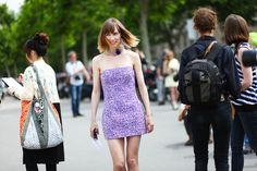 paris couture street style with anya ziourova