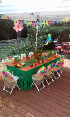 How to plan the perfect party without losing your mind. Birthday parties, bridal showers, baby showers, and other events. Lilo and Stitch luau birthday party. Table decorations and food - Canik BR Aloha Party, Luau Theme Party, Hawaiian Luau Party, Moana Birthday Party, Hawaiian Birthday, 2nd Birthday Parties, Party Themes, Birthday Ideas, Hawaiin Theme Party