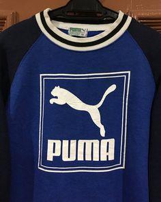 ca5a4e8ee Rare Vintage 90s Puma Tennis Sweatshirt Big Logo Spellout Puma Tennis