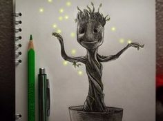 The character from Guardians of the Galaxy. Baby Groot, because he is really cute.