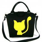 Cat bag Felt purse Bag for women Black bag Felt bag Designer handbag