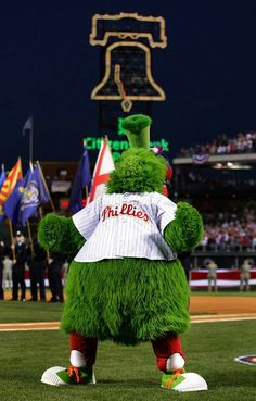 Phillies Fanatic mascot at the games...
