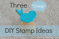 3 Cheap DIY Stamp Ideas (kids craft idea)