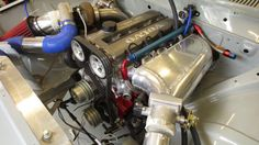B234 being built for drift car use. The Johanssons plan on running 3 bar of boost! Looks promising.