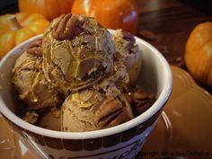 Pecan Cranberry Pumpkin Ice Cream  raw, contains honey