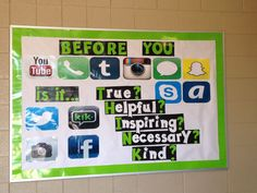 SociaL media BB Counseling Bulletin Boards, School Counseling, Red Ribbon, Social Media, Inspiration, Board Ideas, Internet, Wisdom, Image