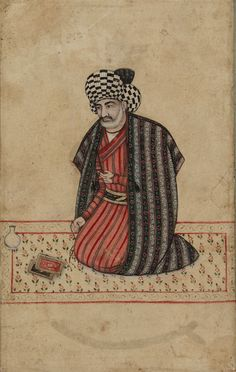 Portrait of Majlisi,1670-80.Safavid period.Opaque watercolor on paper.H: 16.3 W: 10.2 cm.Iran,Bequest of Adrienne Minassian S1998.16© 2012Smithsonian Institution