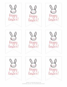 Printable easter gift tags and gift wrap from easter wraps and gift free printable hoppy easter gift tags negle