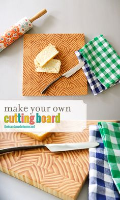 how to make a cutting board