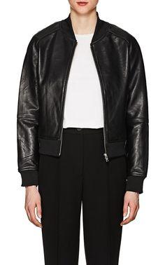 Barneys Warehouse Leather Bomber Jacket - William Rast XL
