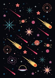 / fly through space / carly watts / art and illustration / Space Illustration, Pattern Illustration, Skull Illustration, Wallpaper Backgrounds, Iphone Wallpaper, Flyer, Canvas Prints, Art Prints, Grafik Design