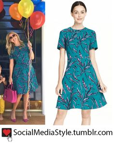 Buy Reese Witherspoon's Draper James Green Floral Print Dress, here!