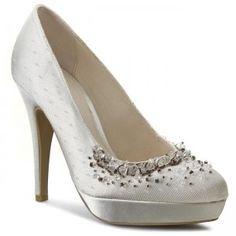 Tűsarkú MENBUR - 004806 Ivory/Marfil 004 Bridal Shoes, Me Too Shoes, Crystals, Heels, Fashion, Ivory, Bride Shoes Flats, Heel, Moda