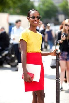 Spring outfit red and yellow