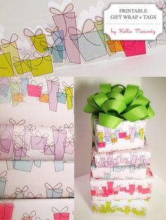 Free Printable: Gift Wrap + Tags - birthday page